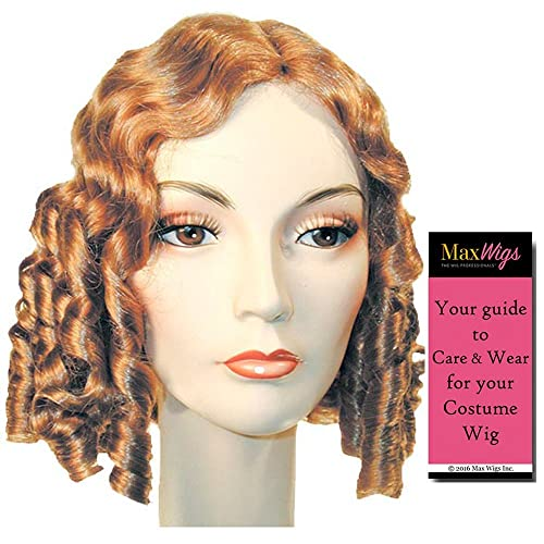 1840 Style Color Auburn - Lacey Wigs Little Women Medieval Maiden Long  Curls Bundle with MaxWigs 53440fa48889