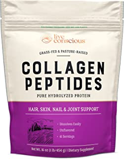 Collagen Peptides - Hair, Skin, Nail, and Joint Support - Type I & III Collagen - All-Natural Hydrolyzed Protein - 41 Servings - 16oz