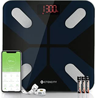 Etekcity Body Fat Scale, 11.8 x 11.8 inches, Black