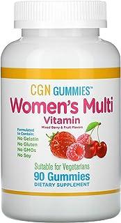 California Gold Nutrition Women's Multi Vitamin Gummies, No Gelatin, No Gluten, Mixed Berry and Fruit Flavor, 90 Gummies