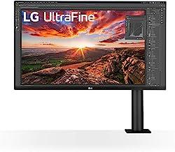 LG 32BN88U-B 31.5インチ Ergo IPS UHD 4K ウルトラファインモニター (3840x2160) 人間工学スタンド&Cクランプ付き USB Type-C DCI-P3 95%(タイプ) HDR10 AMD FreeSy...