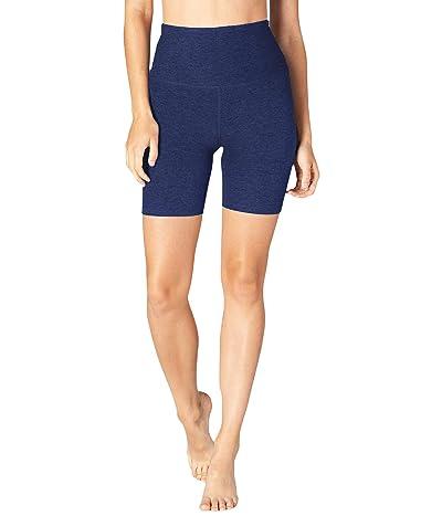 Beyond Yoga Spacedye High Waisted Biker Shorts (Nocturnal Navy) Women