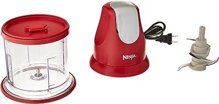 Ninja NJ100 Express Chop - Food Processor & Chopper - Red (Renewed)