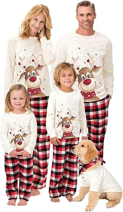 Christmas Family Matching Pajamas Set Adult Women Kid Pyjama Sleepwear Nightwear