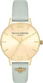 Olivia Burton 3D Bee Embellished Strap Gold Dial Ladies Watch OB16ES17