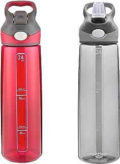 Contigo Autospout Addison Water Bottle, 24 oz - Sangria & Smoke (2 Pack)