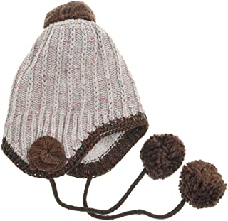Angelina Double-layer Microfiber Lined Cozy Pilot Cap with Pompon