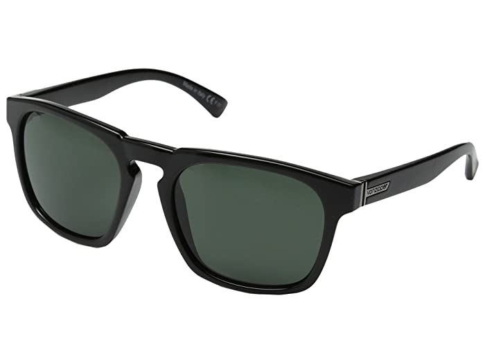 VonZipper Banner (Black Gloss/Vintage Grey) Sport Sunglasses