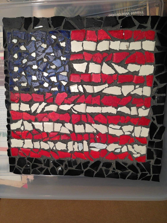 Fort New sales Worth Mall ceramic flag mosaic 12