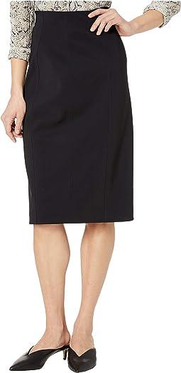 Bonded Neoprene Pencil Skirt