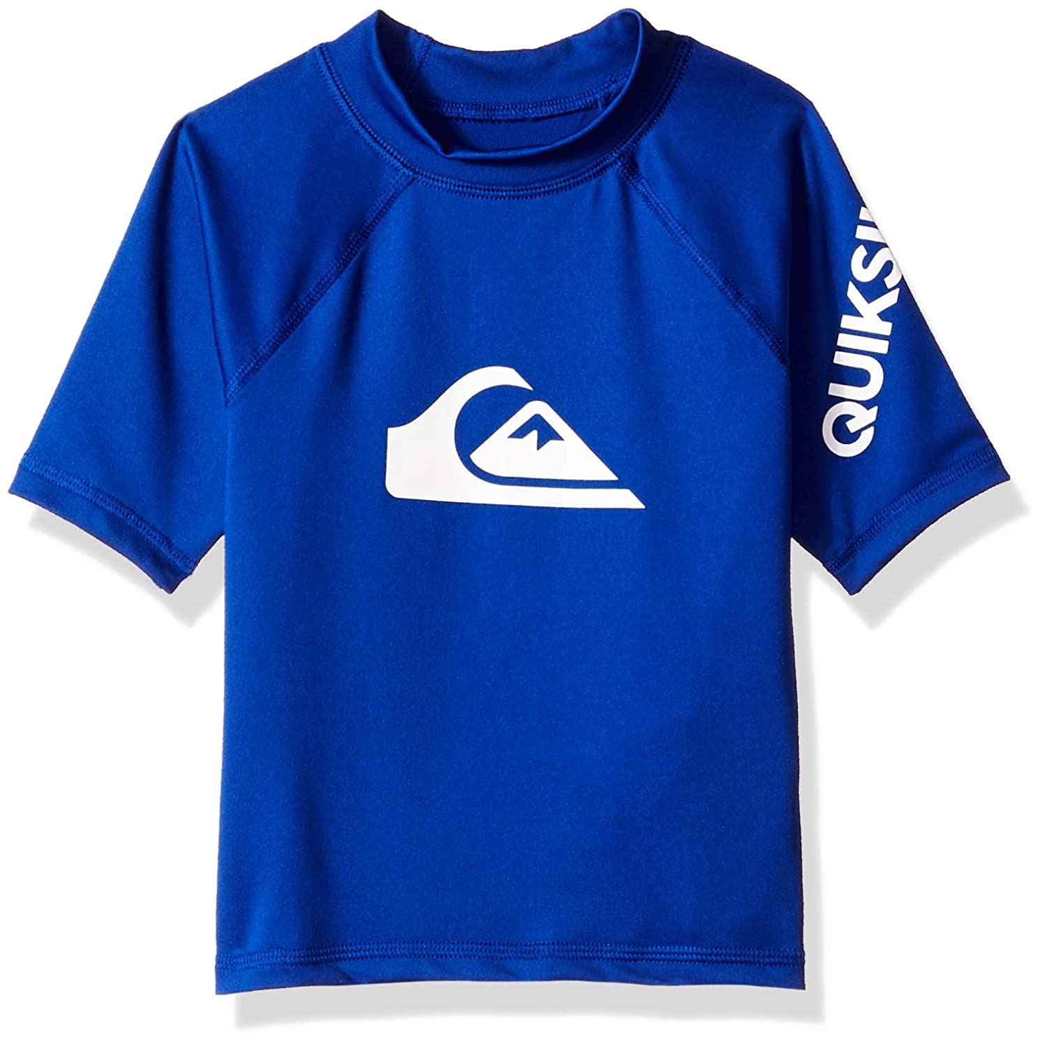 Quiksilver Children (youths) All Time Short Sleeve Boy Electric Royal Surfing Rashguard Size 3