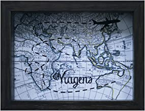 Quadro Cofre de Mesa Mapa Kapos Betume 15X20X4