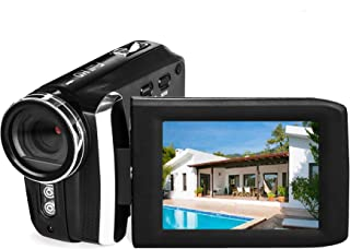 Vmotal Video Camera 1080P Camcorder Vlogging Camera for YouTube, Digital Camera Recorder 270 Degree Rotation Flip Screen w...