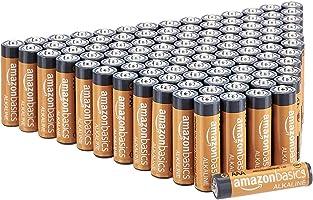 Amazon Basics - Pilas alcalinas AAA de 1,5 voltios, gama Performance, paquete de 100 (el aspecto puede variar)