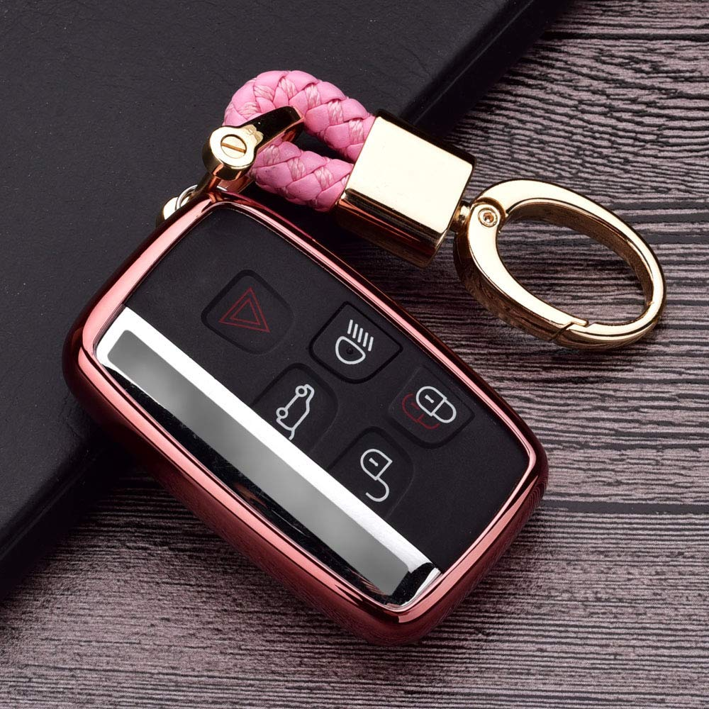Black 2pcs Silicone Protective Key Fob Cover Case Skin Jacket for Range Rover Evoque Velar Sport Discovery Freelander 2 LR4 Land Rover Sport and Jaguar XF XJ XE Smart Remote Key Fob