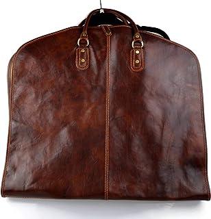 Leather Garment Bag Travel Carry-on Garment Bag Suit Bag Garment Bag Brown
