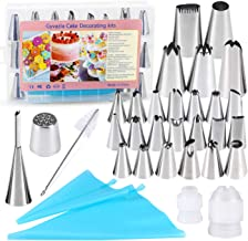 32 Pieces Cake Decorating Supplies, Gyvazla Cake Decorating Tip Set with 20 Stainless Icing Tips, 5 Large Piping Nozzles, ...
