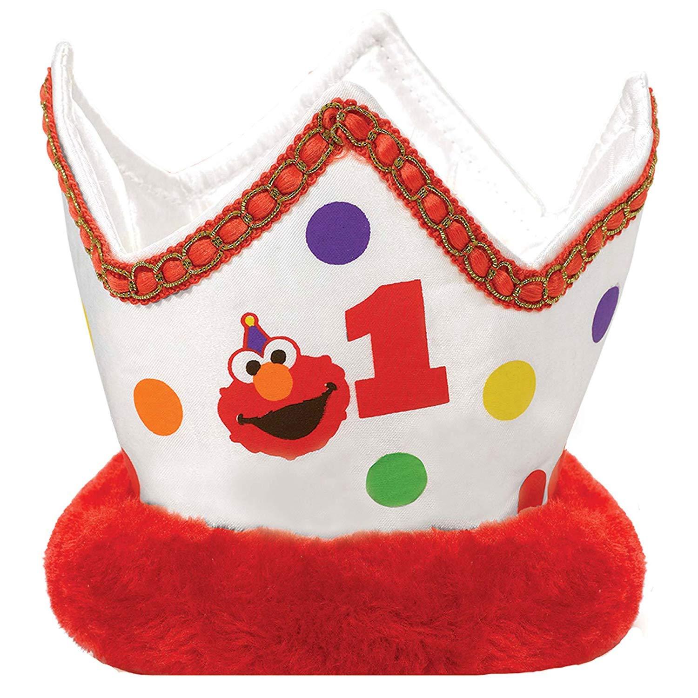 4 Ct. Birthday Sesame StreetElmo Turns One Novelty Crown