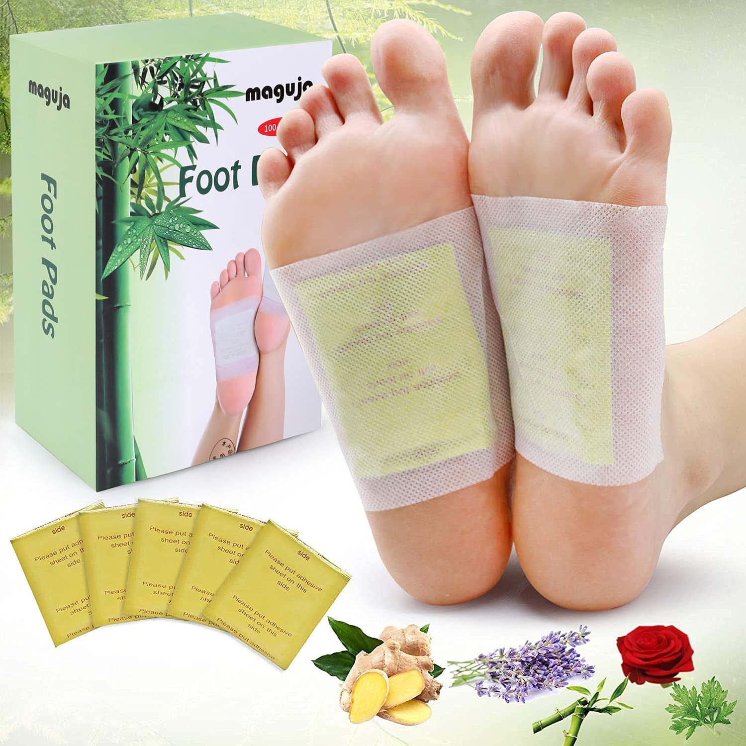 Foot Pads 100Packs Relief Stress 100PCS Ad and Ginger Limited time sale gift