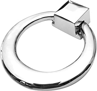 Southern Hills Chrome Ring Pulls, Pack of 5 Drawer Pulls, Cabinet Door Pulls, Cabinet Drawer Pulls, Polished Chrome Ring Pulls Perfect for Kitchen and Bath Cabinets and Furniture. SHKM3282-CHR-5