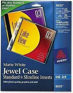 Avery Jewel Case Insert - Matte - 40 / Pack - White