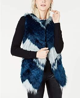 Bar III | Faux-Fur Patchwork Vest | Patchwork