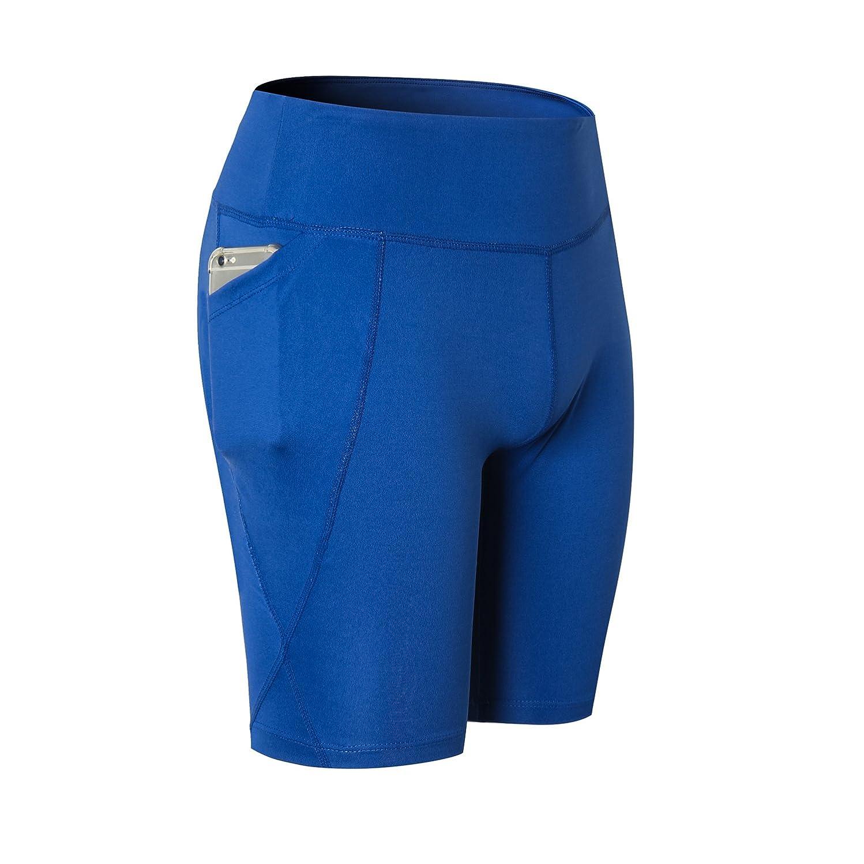 zerocoast High Waist Tummy Control Athletic Yoga Shorts Out Pocket Sports Workout Shorts