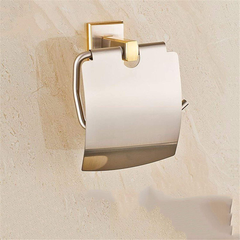Simple Design of a Copper-gold Set Bathroom Accessories Hook Toilet Paper Soap Box Rack Rack,Toilet Paper
