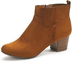 DREAM PAIRS Women's Keeny Chunky Heel Ankle Booties