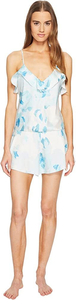 Kate Spade New York Moroccan Rose Satin Romper