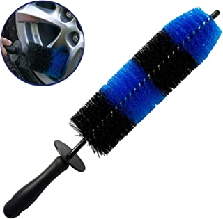 قلم موی چرخ LucklyJone ، برس دستی آسان برای چرخش و رینگ ماشین ، قلم موی لاستیکی نرم نرم ، استفاده چند منظوره برای چرخ ها ، رینگ ها ، نکات مربوط به اگزوز ، موتورسیکلت ها ، بدون خراش