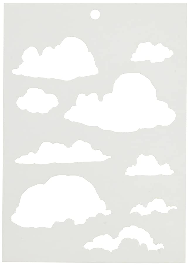 Stampers Anonymous BWS009 Clouds Brett Weldele Stencils, 6.5