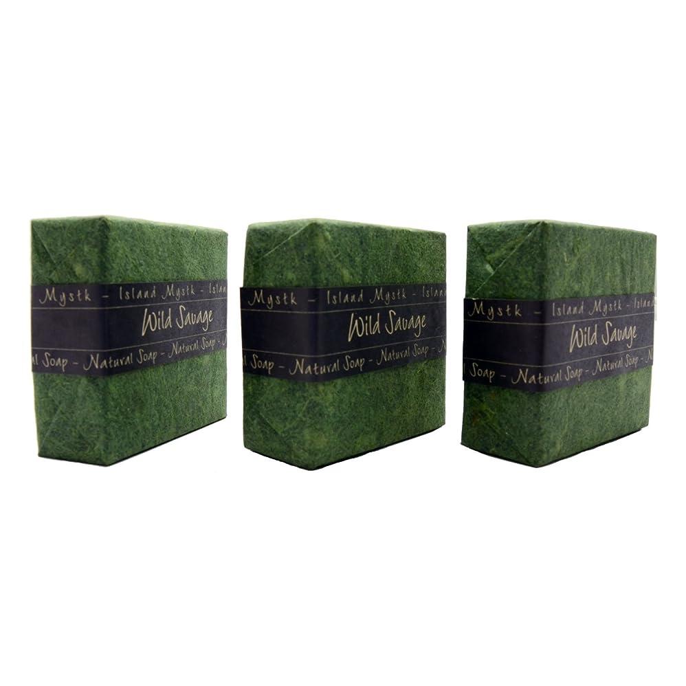 しおれた水素サミットアイランドミスティック ワイルドサーヴェージ 3個セット 115g×3 ココナッツ石鹸 バリ島 Island Mystk 天然素材100% 無添加 オーガニック