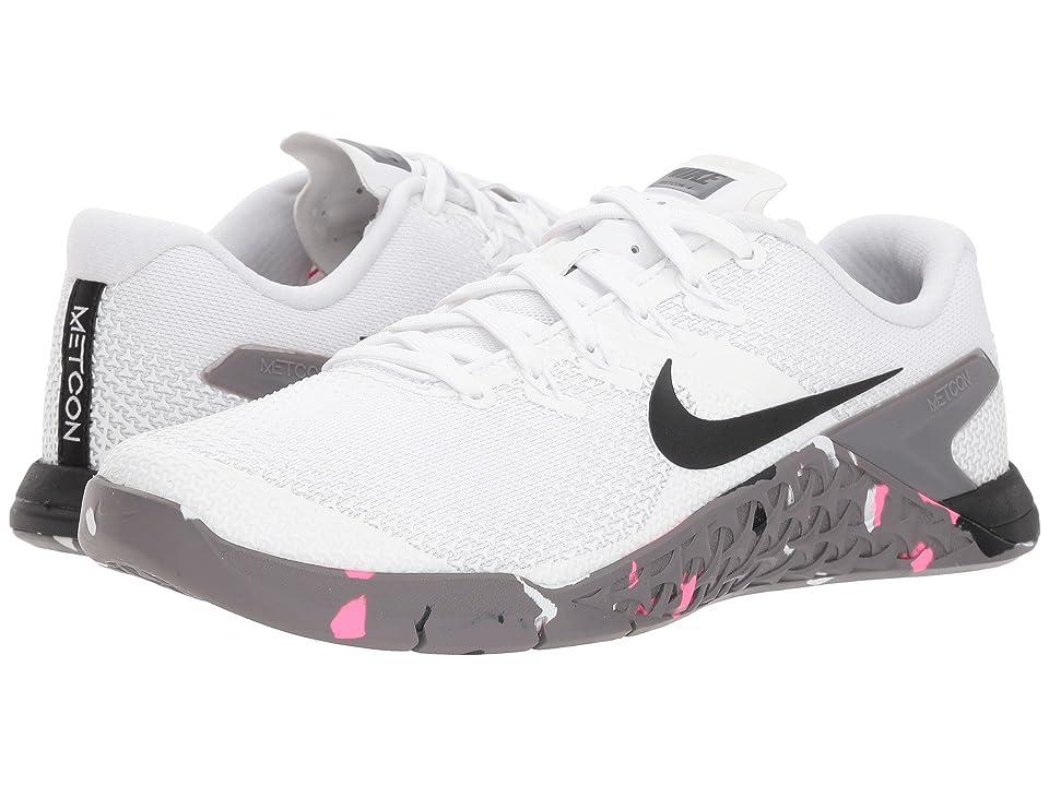 Nike Metcon 4 (White/Black/Gunsmoke/Pink Blast) Women