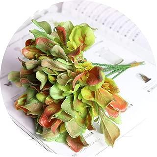 Agust D Bouquet Decorative Big Leaf Grasses Bonsai/Miniascape/Potted Arranging Accessories Simulation Plant Artificial Leaves,Orange