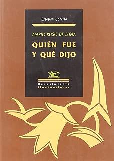 Mario Roso de Luna: Quien Fue y Que Dijo (Iluminaciones) (Spanish Edition)
