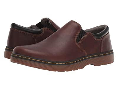Dr. Martens Tipton Slip-On Robson II (Dark Brown/Black Forty PU) Men