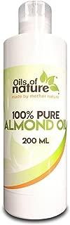 Aceite de Almendras Dulces – 100% Puro Y Natural – Aceite Vehicular Perfecto para Masaje - También Se Utiliza para la Piel, las Bolsas de los Ojos, las Cicatrices
