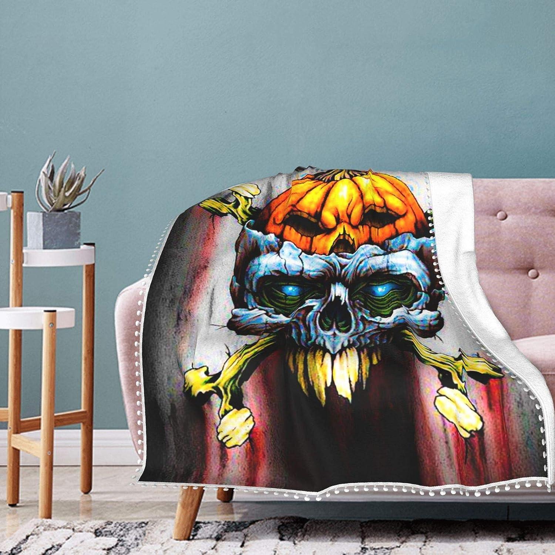 Popularity Samhain Halloween Skull Pumpkin Pompom Fleec New arrival Flannel Full Fluffy