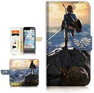 (for iPhone 6 / iPhone 6S) Flip Wallet Style Case Cover, Shock Protection Design with Screen Protector - A31071 Legend of Zelda