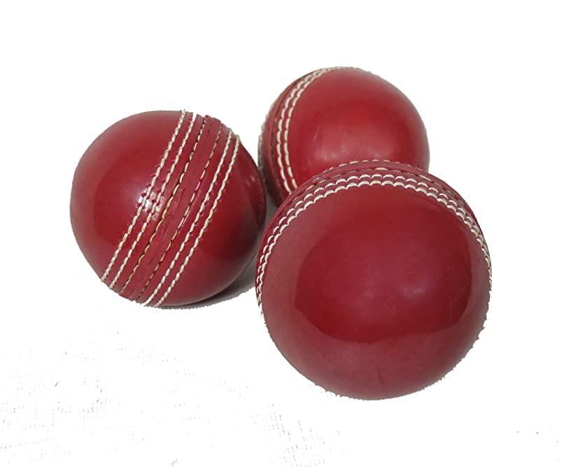 KSZ TRADERS Cricket Rubber Soft Balls for Practice (Set of 3)