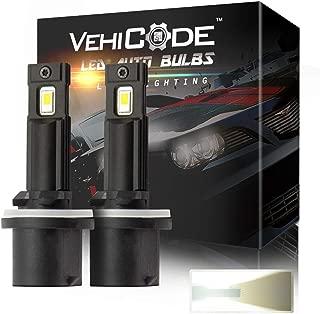 VehiCode 880 885 893 899 LED Fog Light Bulb 6000K White Conversion Kit - High Power 2-SMD 5530 and Super Bright 2800Lms Mini Fanless ATV UTV LED Headlight Lamp Plug-N-Play Replacement (2 Pack)