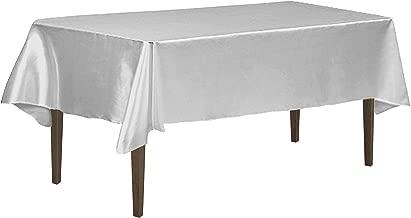 LinenTablecloth 126 Inch Rectangular Tablecloth Silver