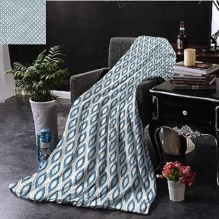 SSKJTC Ikat Sofa Throw Blanket Double-Sided Printing Japanese Kimono Motifs Bed Sleeping Travel Pets Reading W80 xL60