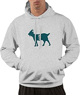 Men's Funny Drew-Brees -Goat Hooded Sweatshirt Gray