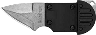 Kershaw AM-6 Neck Knife (2345) 1.5-Inch Stonewash Stainless Steel Blade, Lanyard and Sheath, Perfect for Fishing, Hunting or Anything Outdoors, AL-MAR Design
