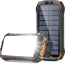 $45 » Sponsored Ad - Solar Charger 26800mAh, BLAVOR Portable Solar Power Bank with 18 LEDs Flashlights and 3 USB Output Ports Ex...