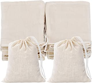 Tatuo 50 Pieces Cotton Drawstring Bags Muslin Bag Sachet Bag for Wedding Party Home Supplies (3 by 4 Inches)