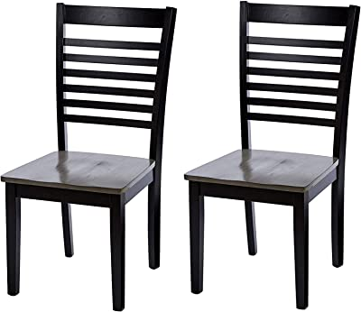 Amazon.com: Wood & Style Furniture Dining-Chairs, Oak Home ...