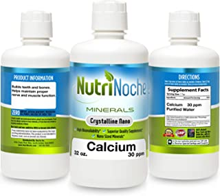 NutriNoche Best Calcium Supplement –Natural Formula, Essential Support for Strong Bones & Teeth -Superior Quality, High Bioavailability & GMP Certified -Helps Maintain Proper Nerve & Muscle Function